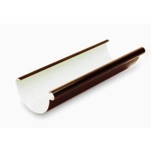 желоб пластиковой водосточной системы Галеко, цвет темно коричневый