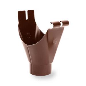 лейка водостока Galeco цвет шоколадно коричневый