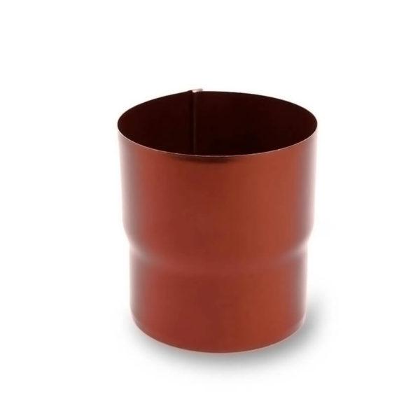 муфта водосточной трубы цвет кирпичный