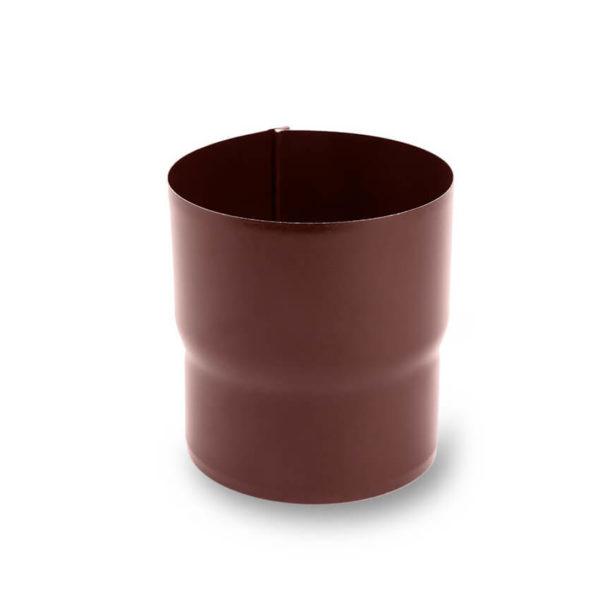 муфта водосточной трубы цвет шоколадно коричневый