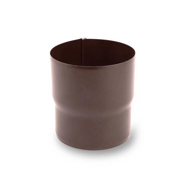 муфта водосточной трубы цвет темно коричневый