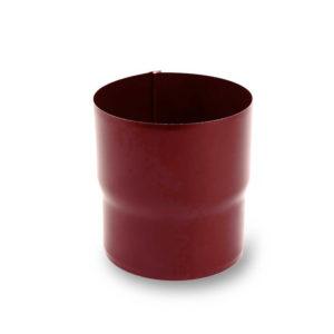муфта водосточной трубы цвет темно красный