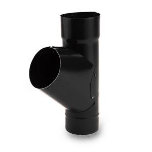тройник водосточной трубы Galeco цвет черный