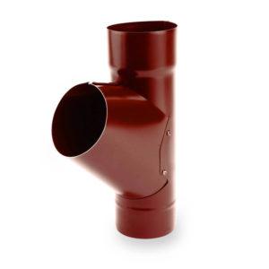 тройник водосточной трубы Galeco цвет темно красный