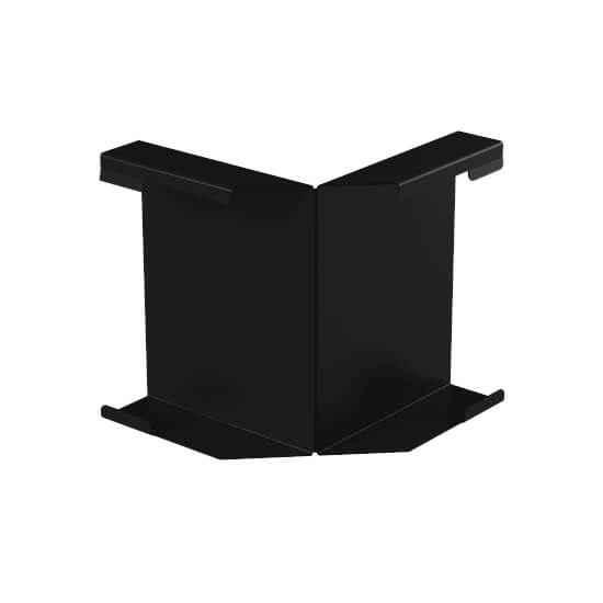 Угол декоративной планки внутренний, черный цвет