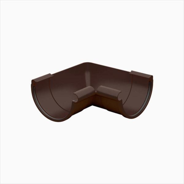 угол желоба 90 градусов Галеко цвет шоколадно коричневый