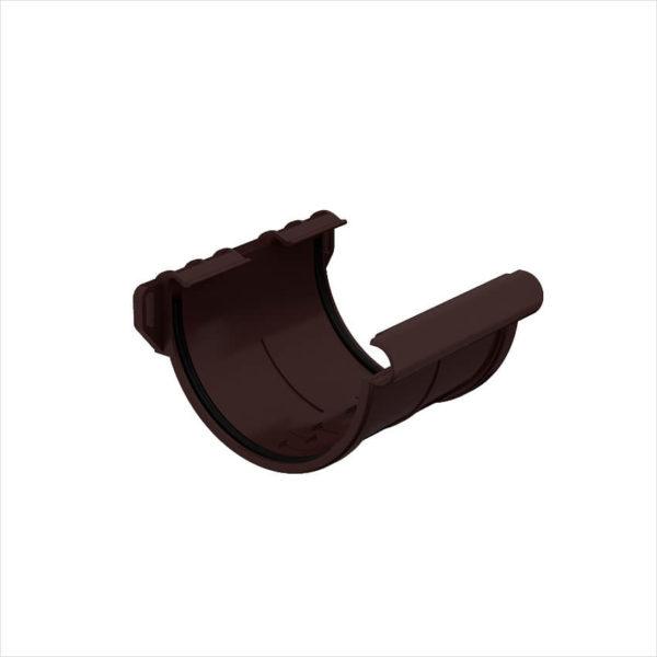 муфта желоба пластиковая Галеко цвет темно коричневый