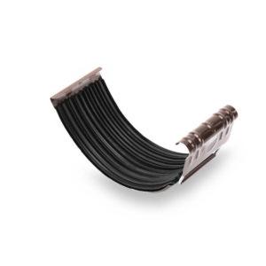 муфта желоба Галеко цвет темно коричневый