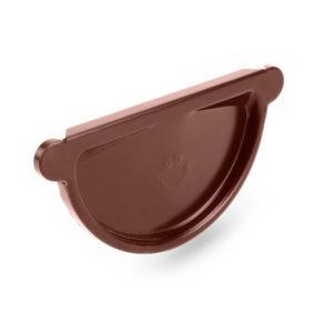 заглушка желоба стальная Galeco, цвет шоколадно коричневый