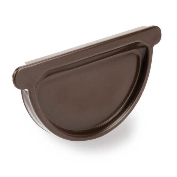 заглушка желоба стальная универсальная цвет темно коричневый