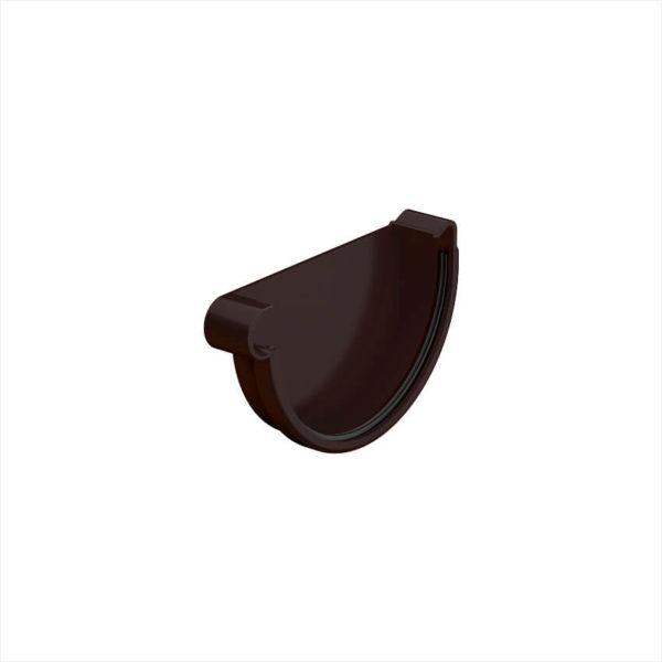 заглушка желоба левая цвет темно коричневый