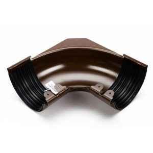 угол желоба внутренний стальной 135 градусов Галеко цвет темно коричневый