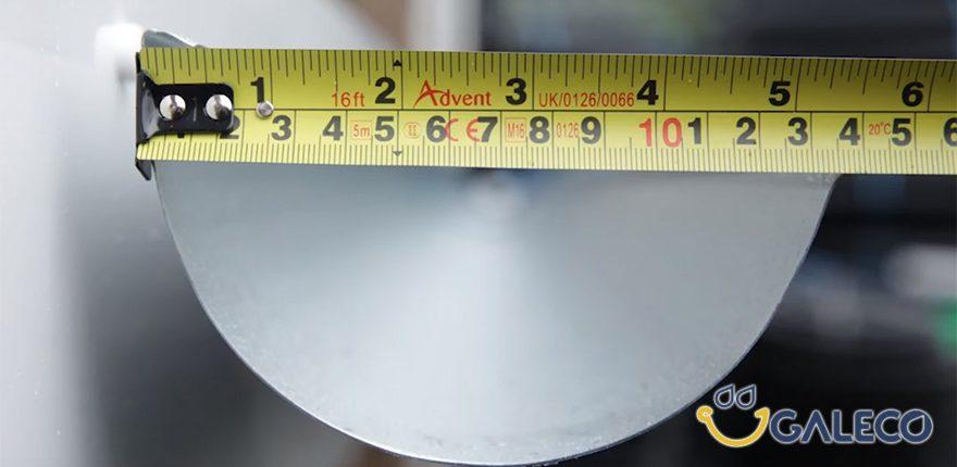 Размеры водосточного желоба